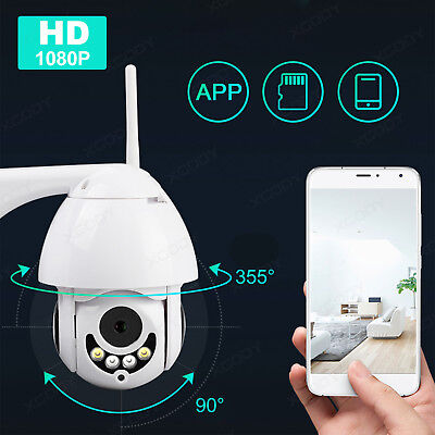 2MP Wireless Wifi IP Camera 1080P Full Color PTZ Outdoor Waterproof 5X Zoom Cam