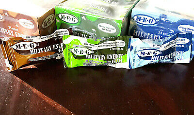 Military Energy Gum - Variety 3-Pack 100mg Caffeine chew drink RATION Prepper