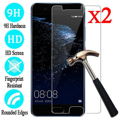 For Huawei P30 20 10 9 Plus Tempered Glass Screen Protector Protective Film 2pcs