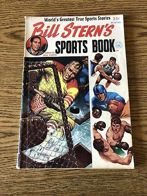 Bill Stern's Sports Book Winter 1952 Ziff Davis VG Complete Last 10 pages loose
