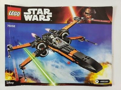 Display stand angled for Lego 75102 Poe/'s X-Wing Fighter Star Wars