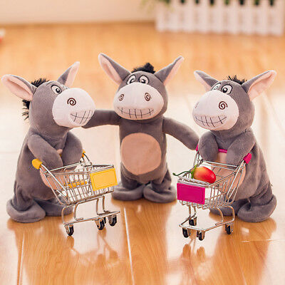UK Kids Talking Donkey Plush Toy Sound Record Speaking Donkey Talking Toys Gifts