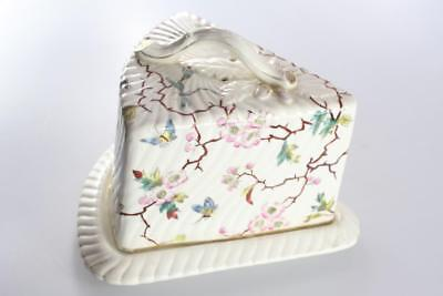 ANTIQUE ENGLISH 19th. CENTURY CERAMIC CHEESE SERVING DISH COVER AND LID