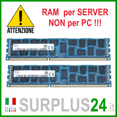 Kit RAM 16GB (2x 8GB) SK HYNIX 2Rx4 PC3-10600R DDR3 1333MHZ ECC REG SERVER