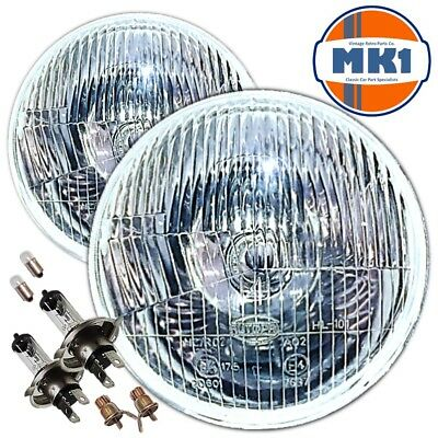 "Classic Rover Mini 7"" Sealed Beam Xenon Halogen Conversion Headlights Lamps"