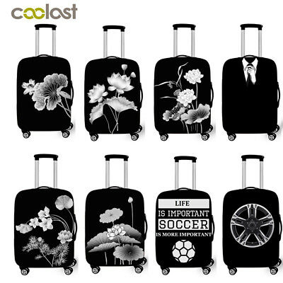Coolost Spandex Travel Luggage Protector Suitcase Cover Fit 18-28 Inch Luggage