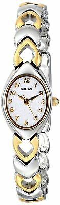Bulova Women's Mother Of Pearl Dial Two-Tone Bracelet Style Watch silver