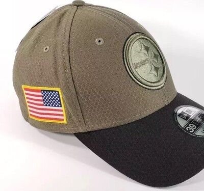 2d62e622 New Era Pittsburgh Steelers 39THIRTY NFL 2017 Salute To Service Sideline Hat  S/M
