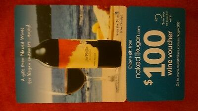 Naked Wines $100 Gift Voucher / Gift Card Red White Wine