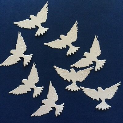 Scrapbooking die cuts - Winged dove x 8 pieces
