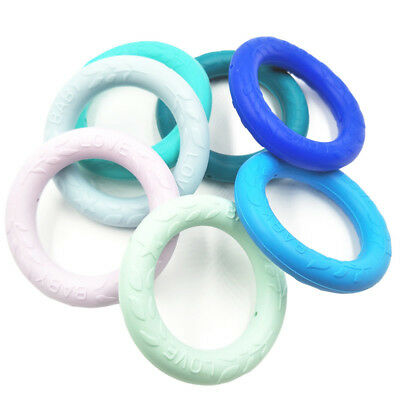 Toddler Teether Chew Silicone Teething Pendant  Baby Hand Ring Chew Toy N7