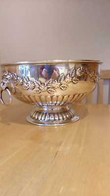 Beautiful Silver On Copper Punch Bowl - Made In England - Excellent Condition