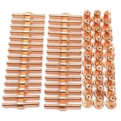 60pcs Extended Long Tips Electrode & Nozzles for PT31 LG40 40A Plasma Cutter