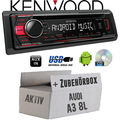 Kenwood Radio per Audi A3 8L Attivo Rosso CD/MP3/USB Android-Steuerung
