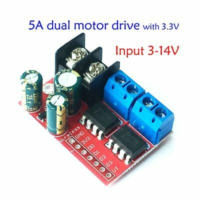5A 2-way DC Motor Drive Module PWM Speed Regulation Dual H Bridge Super L298N