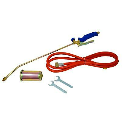 Long Arm Propane Butane Gas Torch Weed Burner Hose Regulator Roofers Plumber Kit