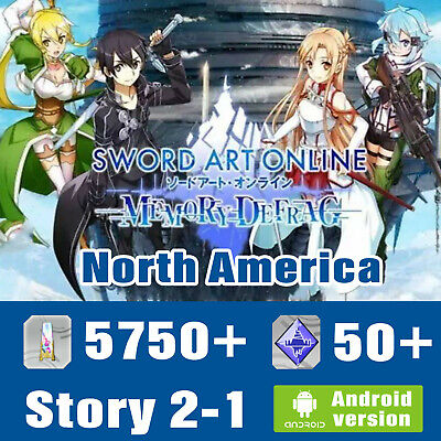 Sword Art Online Memory Defrag SAO MD account [NA/international]  2000+Diamonds