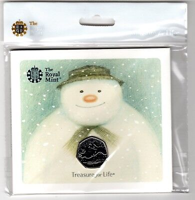 The Snowman 50p BU Coin 2018 Royal Mint Unopened Presentation Pack