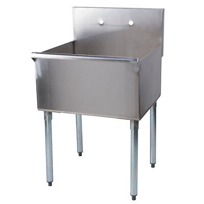 "24"" Stainless Steel One Compartment Commercial Restaurant Sink"