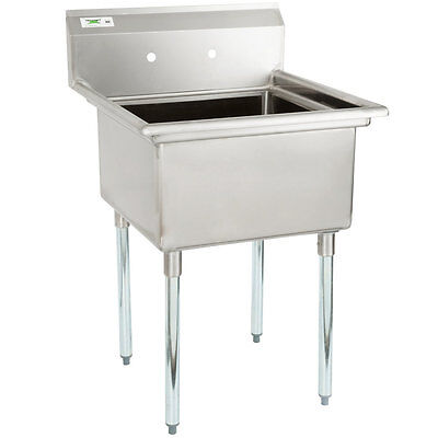 """28"""" Stainless Steel NSF One Compartment Commercial Restaurant Kitchen Sink"""