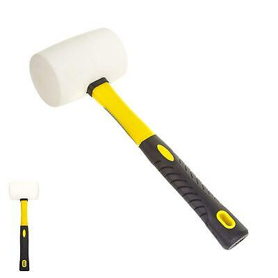 White Rubber Hammer Mallet Fibre Handle Camping Racking Golf Tool