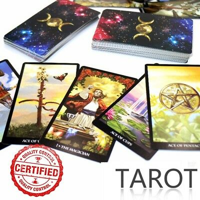 Mystic Tarot Deck 78 Cards with Free Digital Instruction Book-Size 103mm*60m