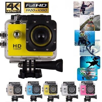 ACTION CAMERA SPORT ETANCHE ULTRA HD 4K 1080P 12MP GOPRO STYLE DV Caméscope