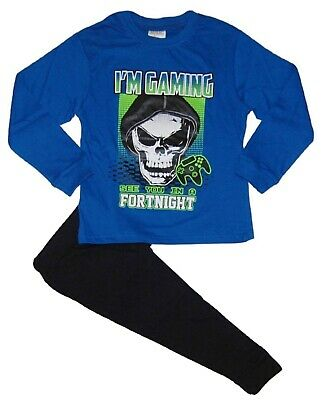 Boys Gaming Skull Pyjamas Younger to Teens