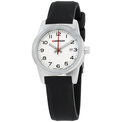 Wenger Field Color White Dial Silicone Strap Ladies Watch 010411133