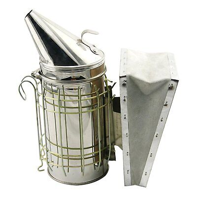 Bee Hive Smoker Stainless Steel with Heat Shield Protection Beekeeping Equipment