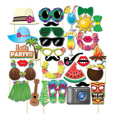 32pcs Photo Booth Party Props Funny Love Wedding Birthday Masks
