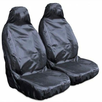 Hyundai Tucson (2004-Date) Heavy Duty Waterproof Black Car Seat Covers 1+1