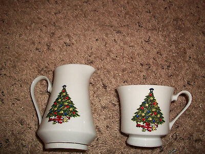 Sea Gull Fine China Christmas Tree Jian Shiang 1 CUP AND CREAMER