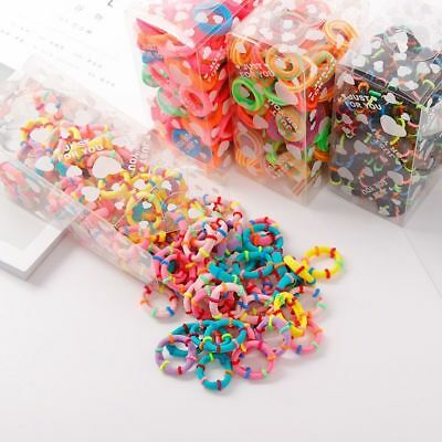 100PCS/Lot Rubber Bands Tie Gum Ponytail Holder Elastic Girls Hair Band Headband