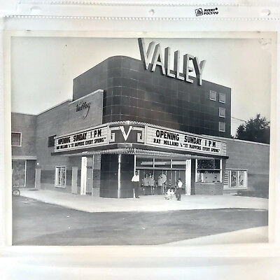Vintage Photograph of Valley Movie Theatre Marquee, Grand Opening, Cincinatti OH