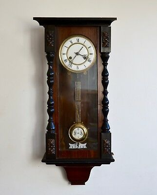 Clock  For Parts Antique Vienna Clock Dial Pendulum Clock