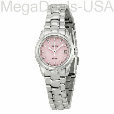 Citizen Women's Eco-Drive Stainless Steel Pink Dial Watch EW1620-57X