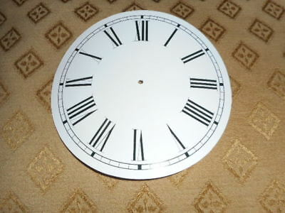 "Round Paper Clock Dial-  5"" M/T-Roman (L)- Gloss White-Face / Clock Parts/Spares"
