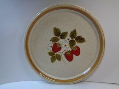 MIKASA F5809 Stone Manor LUSCIOUS Strawberry 10.75 Dinner Plate 1974-1982