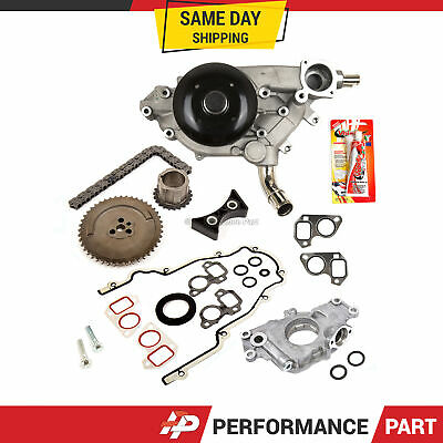 TIMING CHAIN KIT Cover Gasket Water Oil Pump Fit 03-06