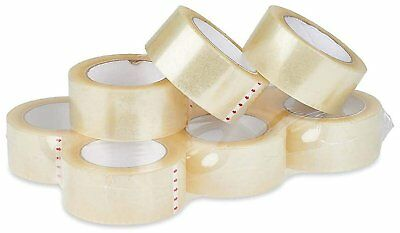 Amiff Acrylic carton sealing tape 3 inch wide Packing tape 2 mil, 110 yards...
