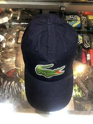 Lacoste Navy Blue Men s Baseball Cap big croc garbadine adjustable TU ONE f3986f85affb