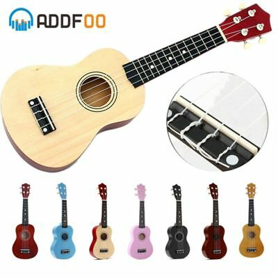Ukulele Soprano 4 Strings Hawaiian Spruce Basswood Guitar 21 inch
