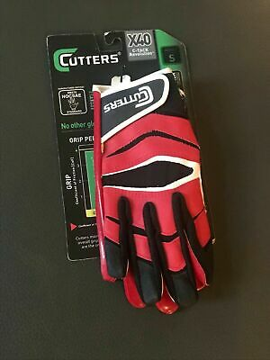 Cutters Mens X40 C Tack Revolution S Black Football Receiver Gloves