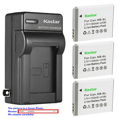 Kastar Battery Wall Charger for Canon NB-6L NB6LH CB2LY Canon PowerShot SX530 HS