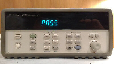 Agilent Keysight 34970A Data Acquistion Switch Unit w/ 6-1/2 Digit DMM -Tested