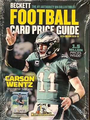 2018-19 Beckett Football Card Annual Price Guide 35th Edition - $39.95 SRP Wentz