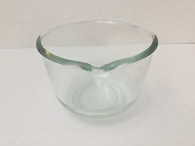 Vintage Small Glass Mixing Bowl Pour Spout Oster Regency Kitchen Center
