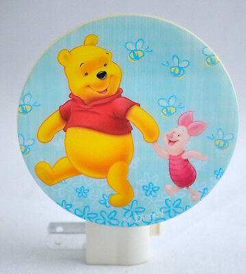 WINNIE THE POOH & Tigger- Night Light - Kids Bedroom Home Decor BLUE