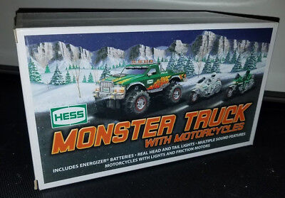 Brand New Hess Monster Truck With Motorcycles 2007